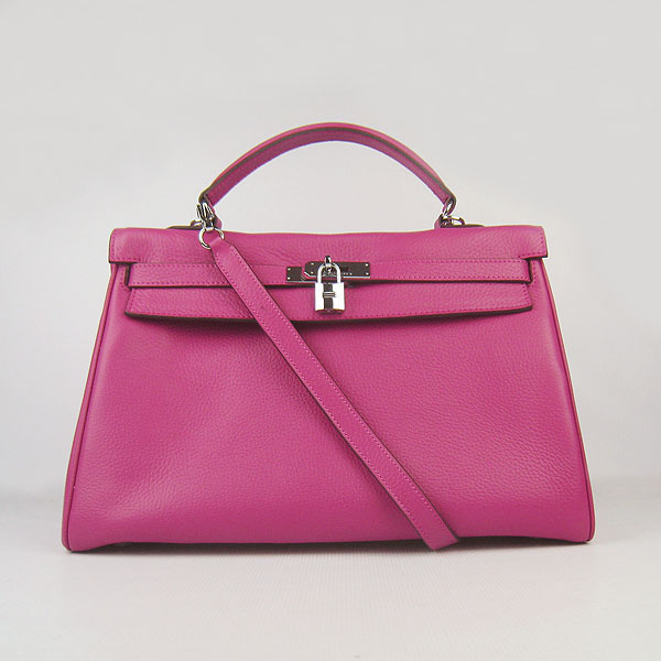 High Quality Hermes Kelly 35cm Togo Leather Bag Peach 6308