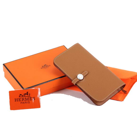 1:1 Quality Hermes Dogon Combined Wallets A508 Coffee Replica