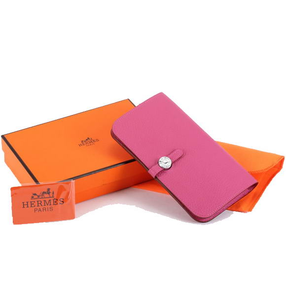 1:1 Quality Hermes Dogon Combined Wallets A508 Roseo Replica