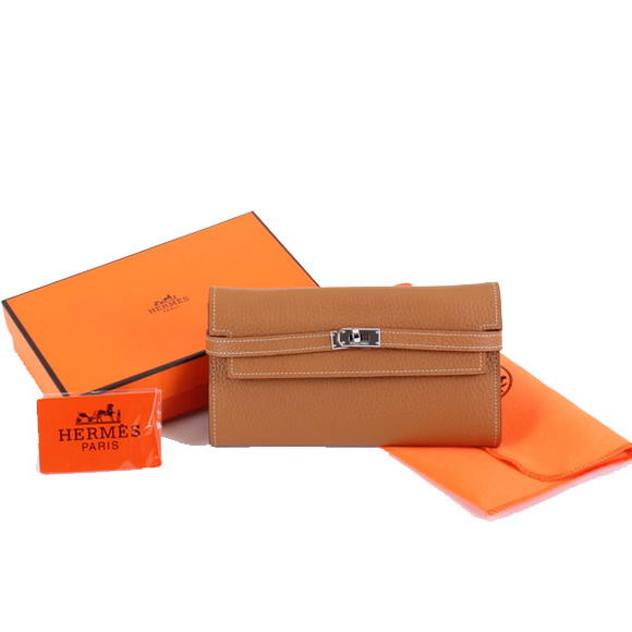 High Quality Hermes Kelly Bi-Fold Wallet A708 Coffee Fake