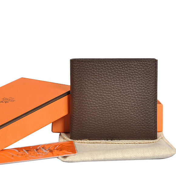 Cheap Fake Hermes MC Socrate Bi-Fold Wallet H006 Brown