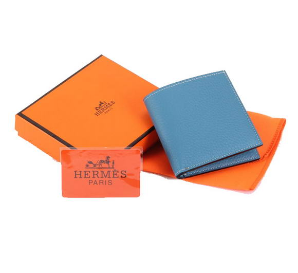 Cheap Fake Hermes MC Socrate Wallet H6002 Blue