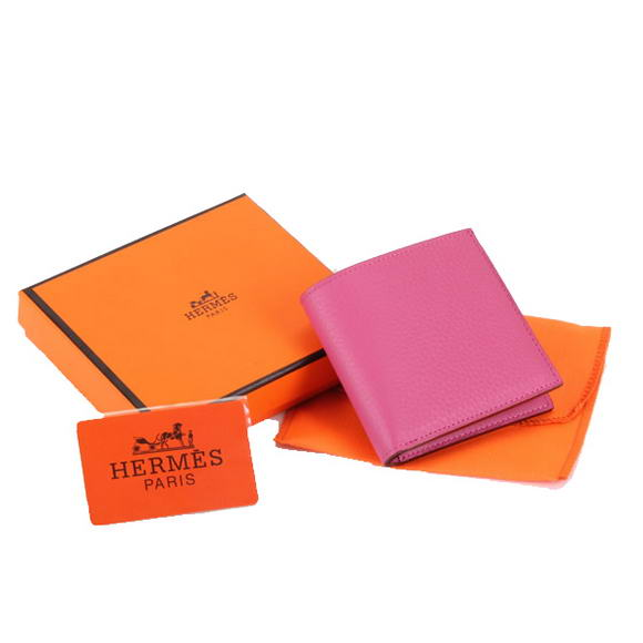 Cheap Fake Hermes MC Socrate Wallet H6002 Roseo