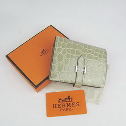 Cheap Replica Hermes Gray Crocodile Veins Wallet H006