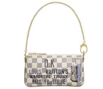 7A Replica Louis Vuitton Damier Azur Canvas Milla Clutch Trunk N63090