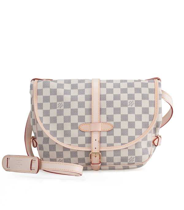 7A Replica Louis Vuitton Damier Azur Canvas Saumur N48202