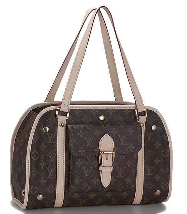 7A Replica louis Vuitton Monogram Canvas Baxter Dog Carrier PM M42027 Online