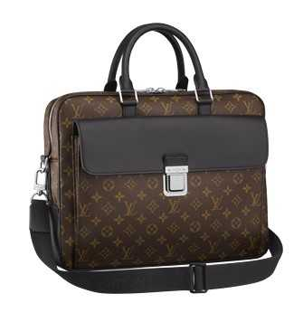 Buy Replica Louis Vuitton Monogram Macassar Canvas Soft Briefcase M56719