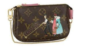7A Replica Louis Vuitton Monogram Canvas Mini Pochette Accessories Illustre Online