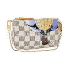 7A Replica Louis Vuitton Damier Azur Mini Pochette Accessories Illustre N63