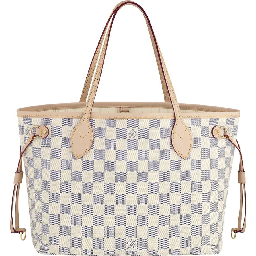 7A Replica Louis Vuitton Neverfull PM Damier Azur Canvas N51110 Handbags
