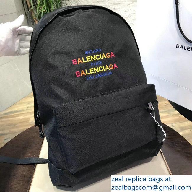9ac7773622 Balenciaga Explorer Waterpoof Nylon Backpack Bag with Logo Milano Paris Los  Angeles 2018 2803114707
