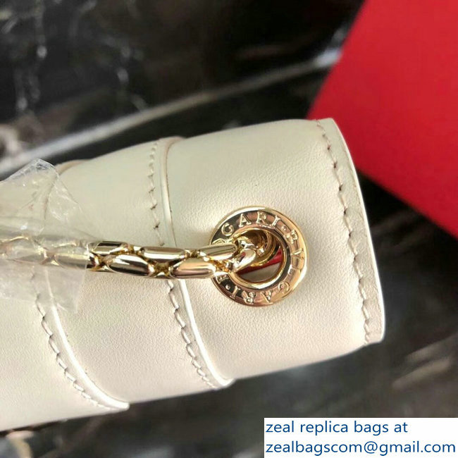 Bvlgari Love Heart Charm Serpenti Forever Flap Cover Small Bag Off White 2018_2803114731