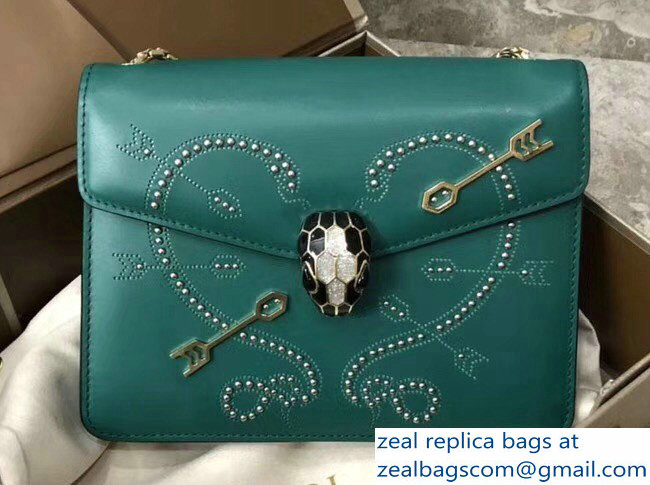 Bvlgari Pop Heart Serpenti Forever Flap Cover Small Bag Green 2018_2803114738