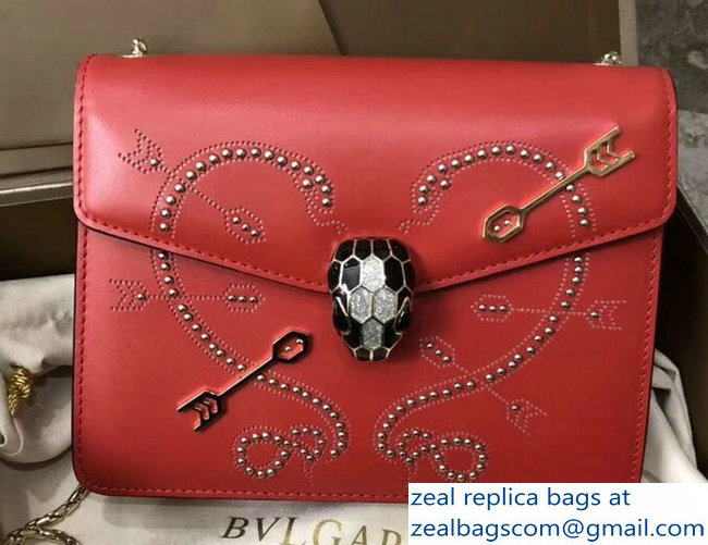 Bvlgari Pop Heart Serpenti Forever Flap Cover Small Bag Red 2018_2803114740