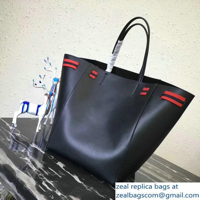 b4c594b7d4 Celine Large Cabas Phantom Bag Black In Calfskin With Wool Belt  2018 2803114742