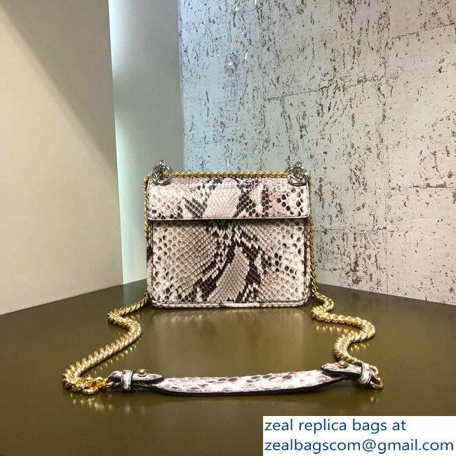 1b89beec96 Fendi Python Mini Kan I F Logo Bag Daisy Flower Grommets 2018 2803115246