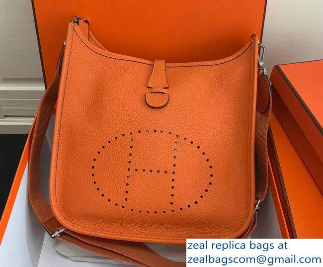 Hermes Togo Leather Evelyne III PM Bag Orange 2803115481   www ... aeca2cb766101