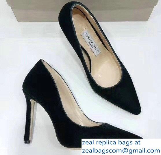 36438c5c2b5 Jimmy Choo Heel 9.5cm Romy Velvet Pointy Toe Pumps Dark Green  2018 2803115489