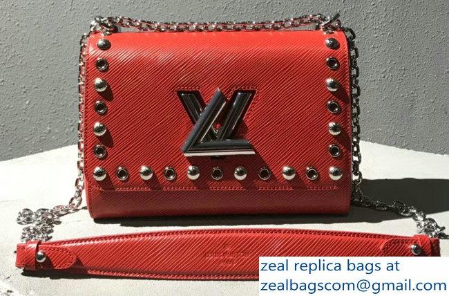 d0d051780291 Louis Vuitton Studs And Eyelets Epi Leather Twist MM bag M54269 Coquelicot  2018 2803115559