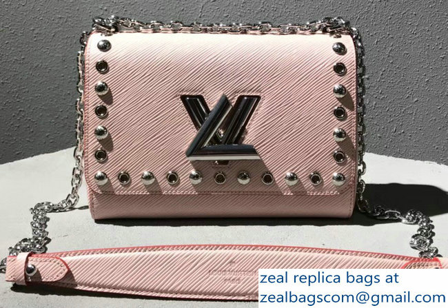 76c60260ddf5 Louis Vuitton Studs And Eyelets Epi Leather Twist MM bag Pink  2018 2803115560