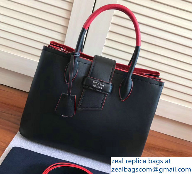 96ed0f45b3 ... coupon code for prada top handle tote shoulder bag 1bg148 black red  resort 20182803115590 33bce 88894