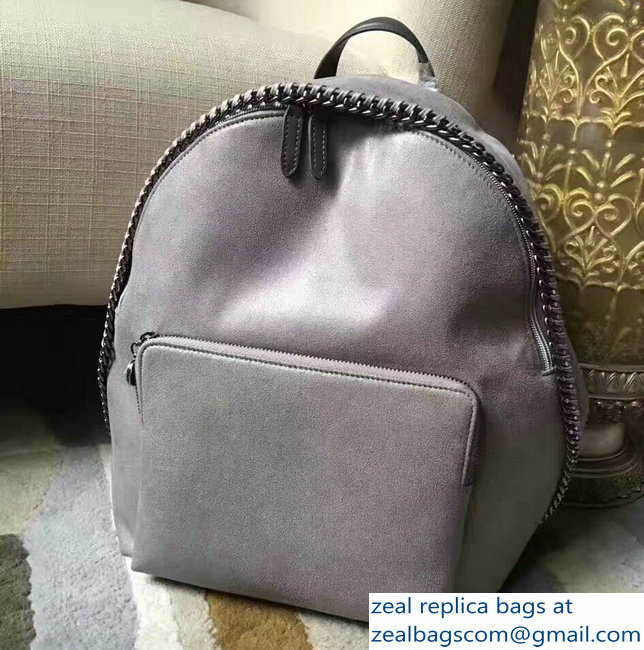 Stella McCartney Falabella Shaggy Deer Mini Backpack Bag Gray_2803115654
