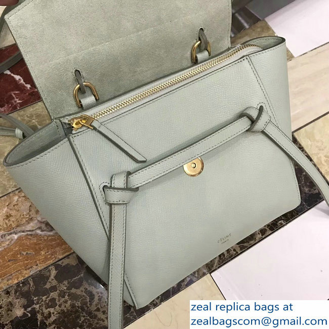 91b11551ca Celine Nano Belt Bag in Grained Calfskin 185003 Pastel Green 2018 ...