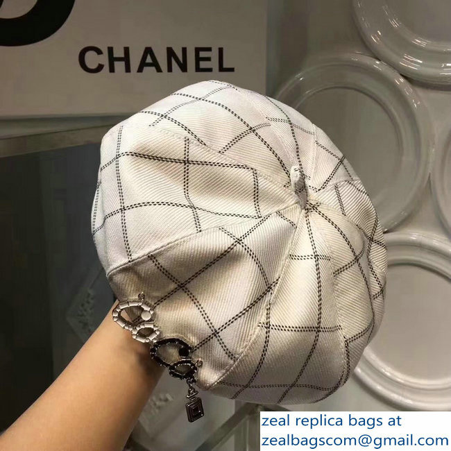 81ceaa34d0f Chanel Coco White Beret Hat Cap 2018   www.zealbag.ru
