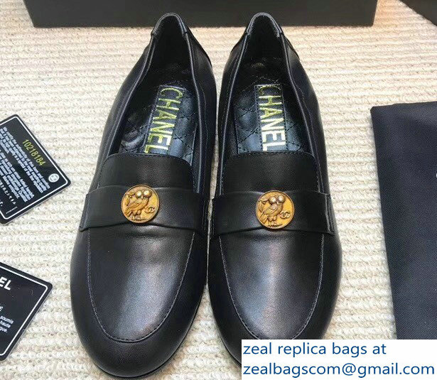 Chanel Owl Black Loafers G33519 2018