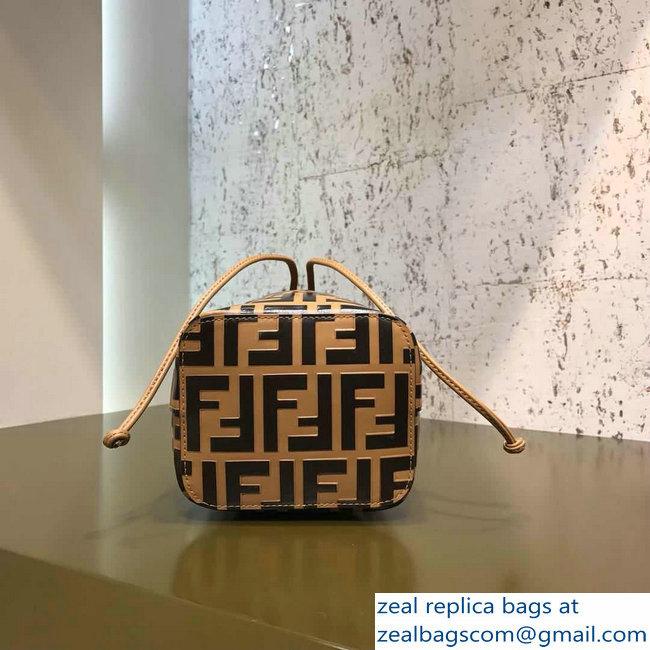 06b016f2c4 Fendi Mon Tresor Leather Bucket Mini Bag FF Logo Brown 2018   www ...