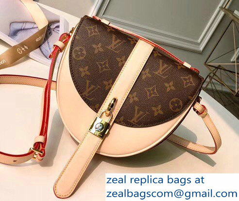 fda8776b5b Louis Vuitton Monogram and Monogram Reverse Canvas Chantilly Lock Saddle Bag  Beige 2018
