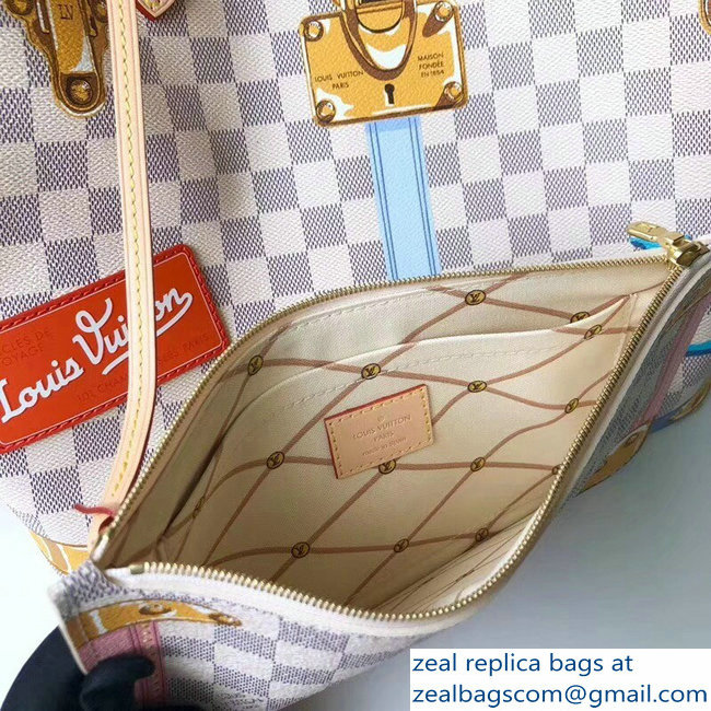 3ff81087d2e0 larger image. Louis Vuitton Summer Trunks Damier Azur Canvas Neverfull MM  Bag N41065 2018 larger image