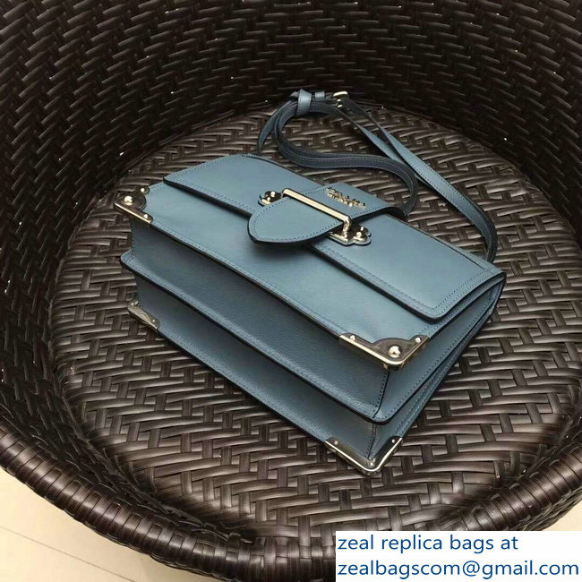 d67f6168b605 Prada Cahier Leather Shoulder Bag 1BD095 Baby Blue 2018   www.zealbag.ru