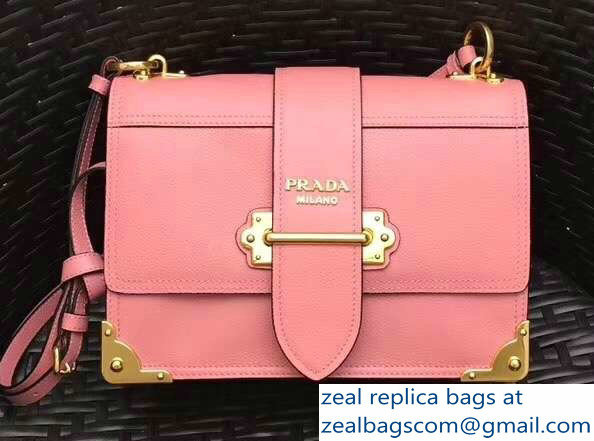 acd5c3e0c26c Prada Cahier Leather Shoulder Bag 1BD095 Pink Gold 2018   www.zealbag.ru