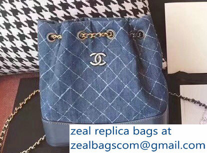 Chanel Denim Calfskin Gabrielle Backpack Bag A94485 2018   www ... 329b060393723
