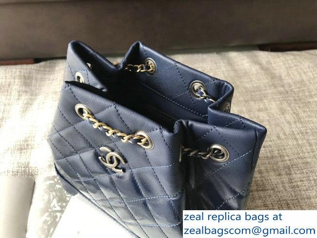 Chanel Patent Goatskin Gabrielle Backpack Bag A94485 Dark Blue 2018 ... 1487452b2dbf4