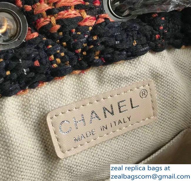 Chanel Tweed Calfskin Gabrielle Backpack Bag A94485 Black 2018   www ... 2fe4206d0aa10