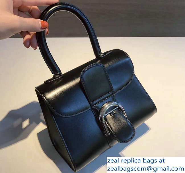 Delvaux Brillant Small Tote Bag In Box Leather Black
