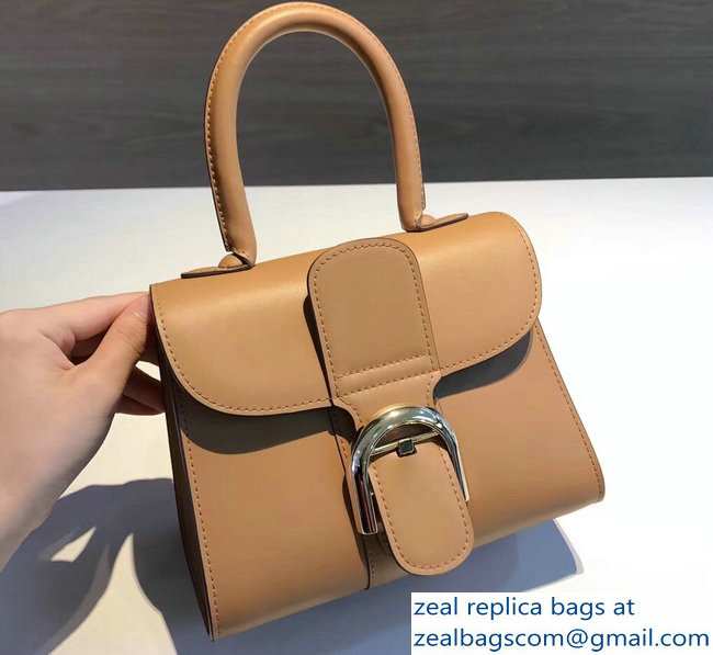 Delvaux Brillant Small Tote Bag In Box Leather Caramel