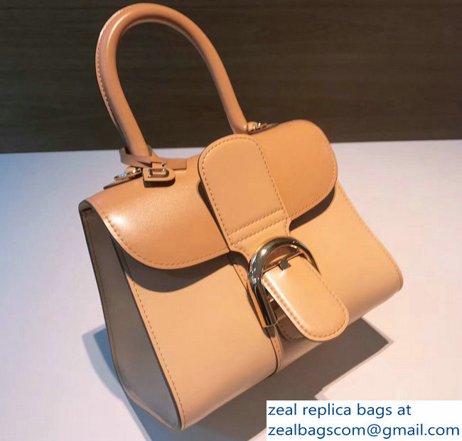 Delvaux Brillant Small Tote Bag In Box Leather Creamy/Apricot