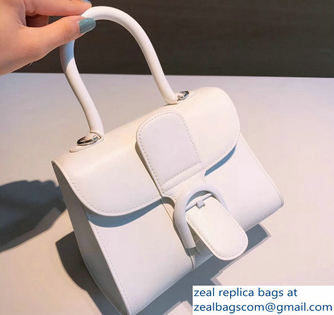 Delvaux Brillant Small Tote Bag In Box Leather White