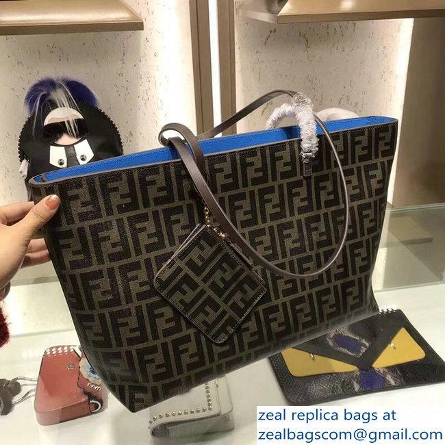 42a7c8db56 Fendi Roll Shopper Shopping Tote Bag FF Logo Brown Blue   www.zealbag.ru