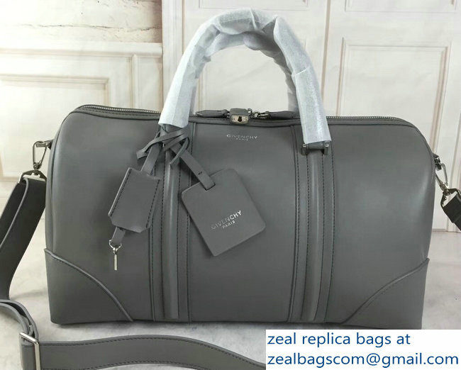 b66dca9451cc Givenchy Leather Weekender Duffle Travel Luggage Carry On Bag Gray ...
