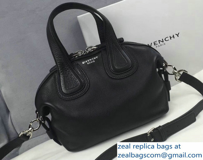 b269cb902b64 Givenchy Nightingale Micro Mini Tote Top Handle Bag Black   www ...