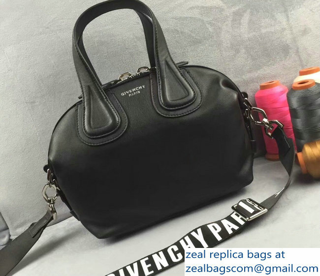a3b3f84456 Givenchy Nightingale Micro Mini Tote Top Handle Bag Logo Strap Black ...
