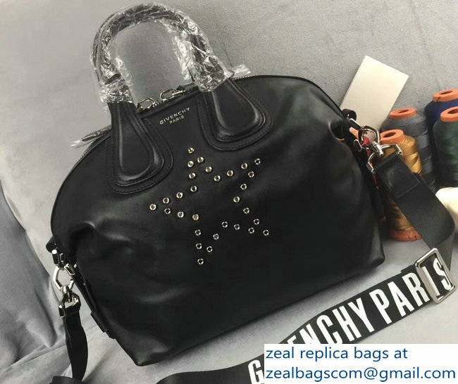 Givenchy Pandora Star Print CoverLeather Tote Bag With Strap Black ... d0fc1cd98978d