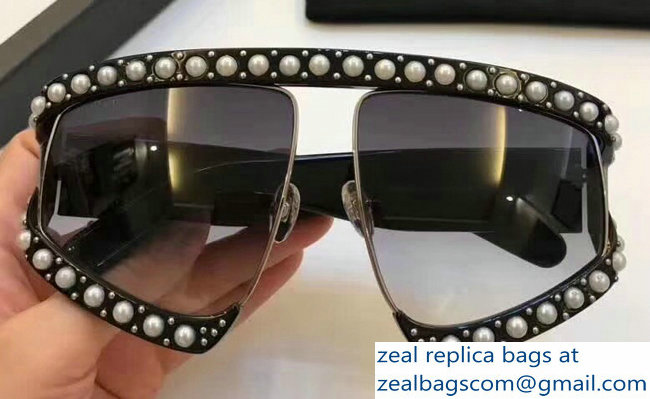 b37367f803 Gucci Rectangular-Frame Acetate Sunglasses With Pearls 494329 02 2018