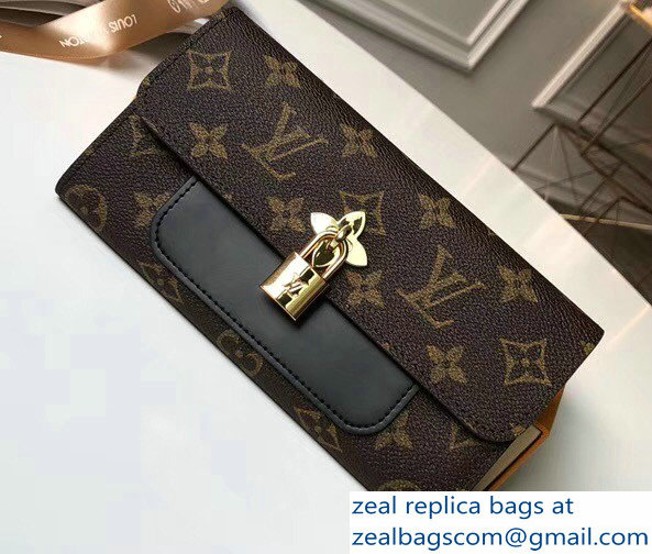 Louis Vuitton Monogram Canvas Flower Wallet M62577 Noir 2018