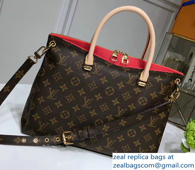 Louis Vuitton Monogram Canvas Pallas MM Bag M41175 Cherry